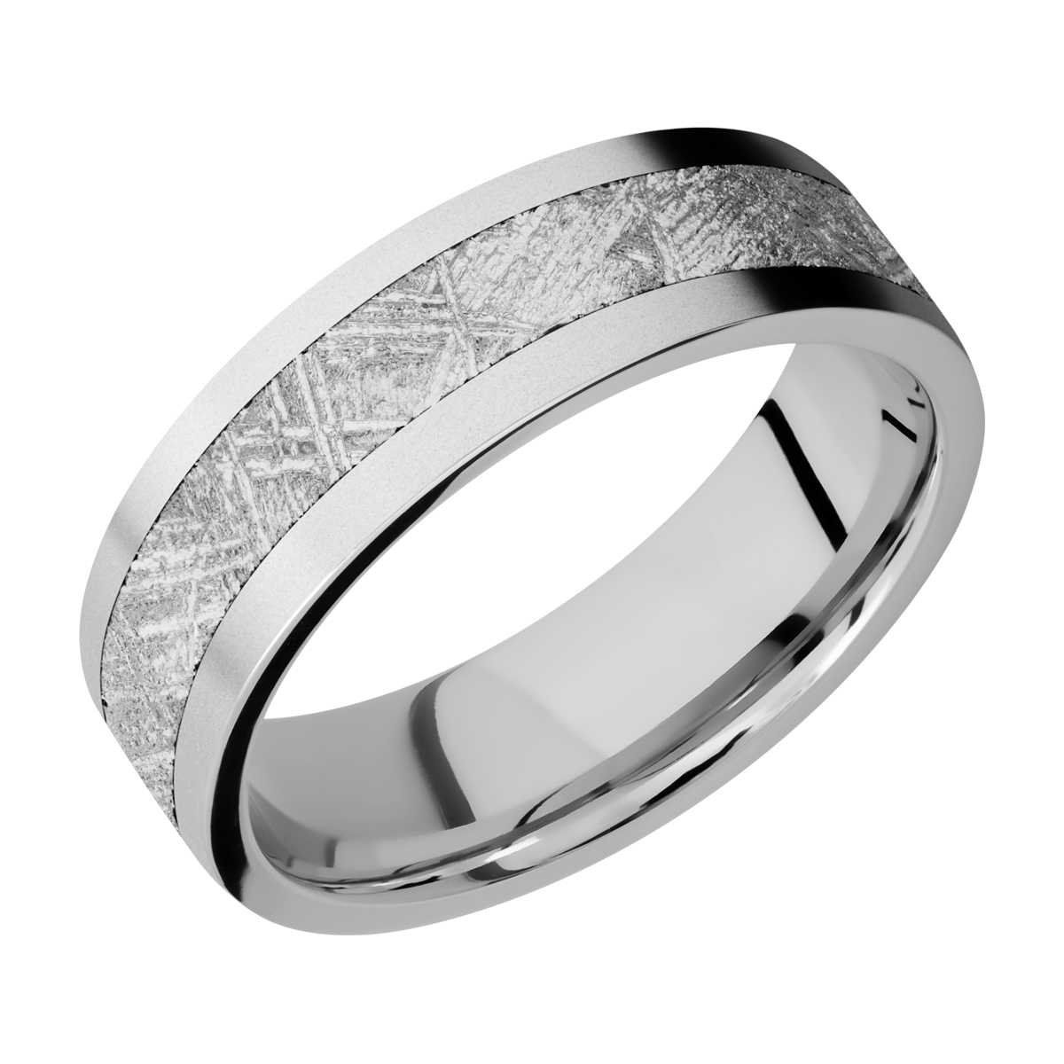 Lashbrook CC7F14/METEORITE Cobalt Chrome Wedding Ring or Band