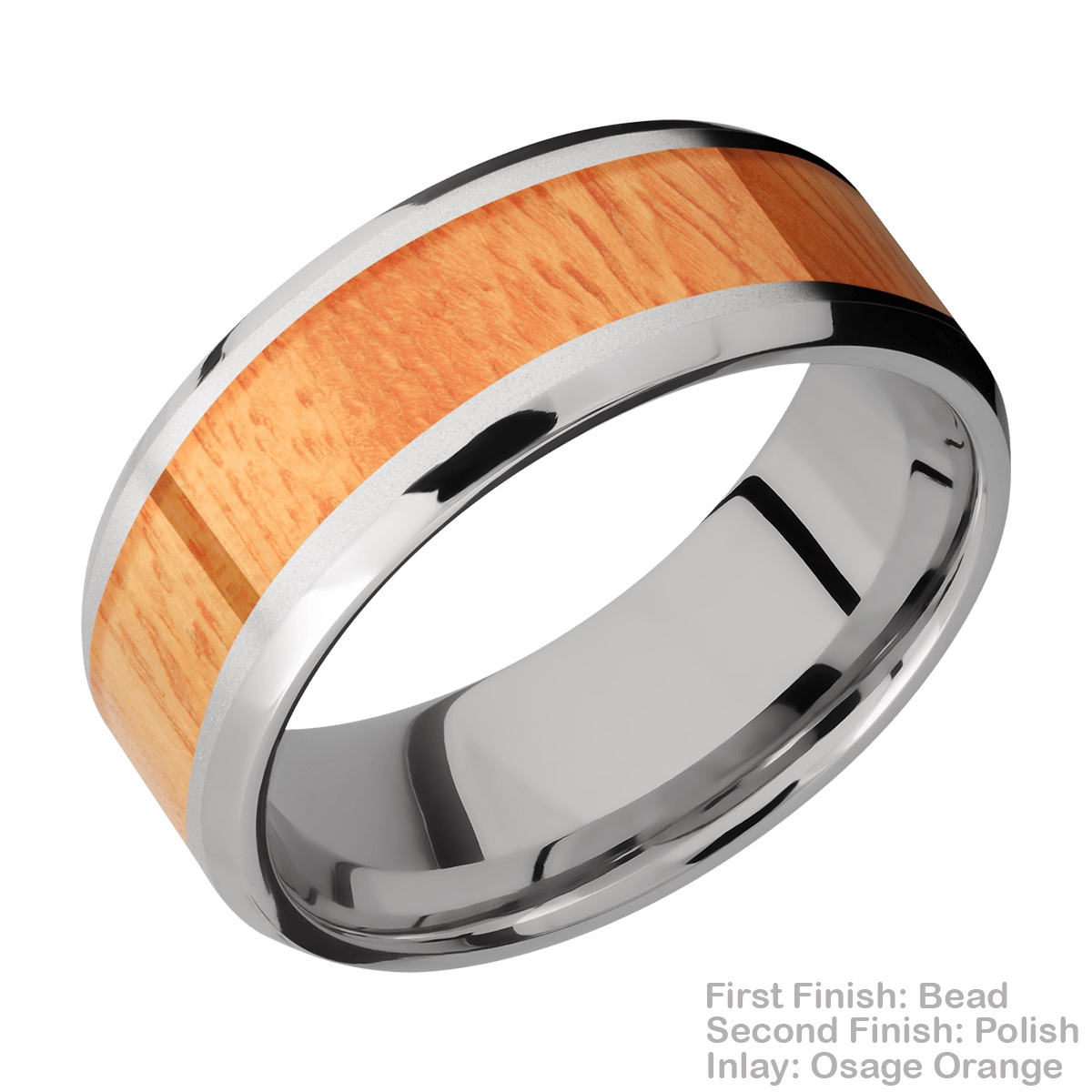 Lashbrook CC8B15(NS)/HARDWOOD Cobalt Chrome Wedding Ring or Band Alternative View 5