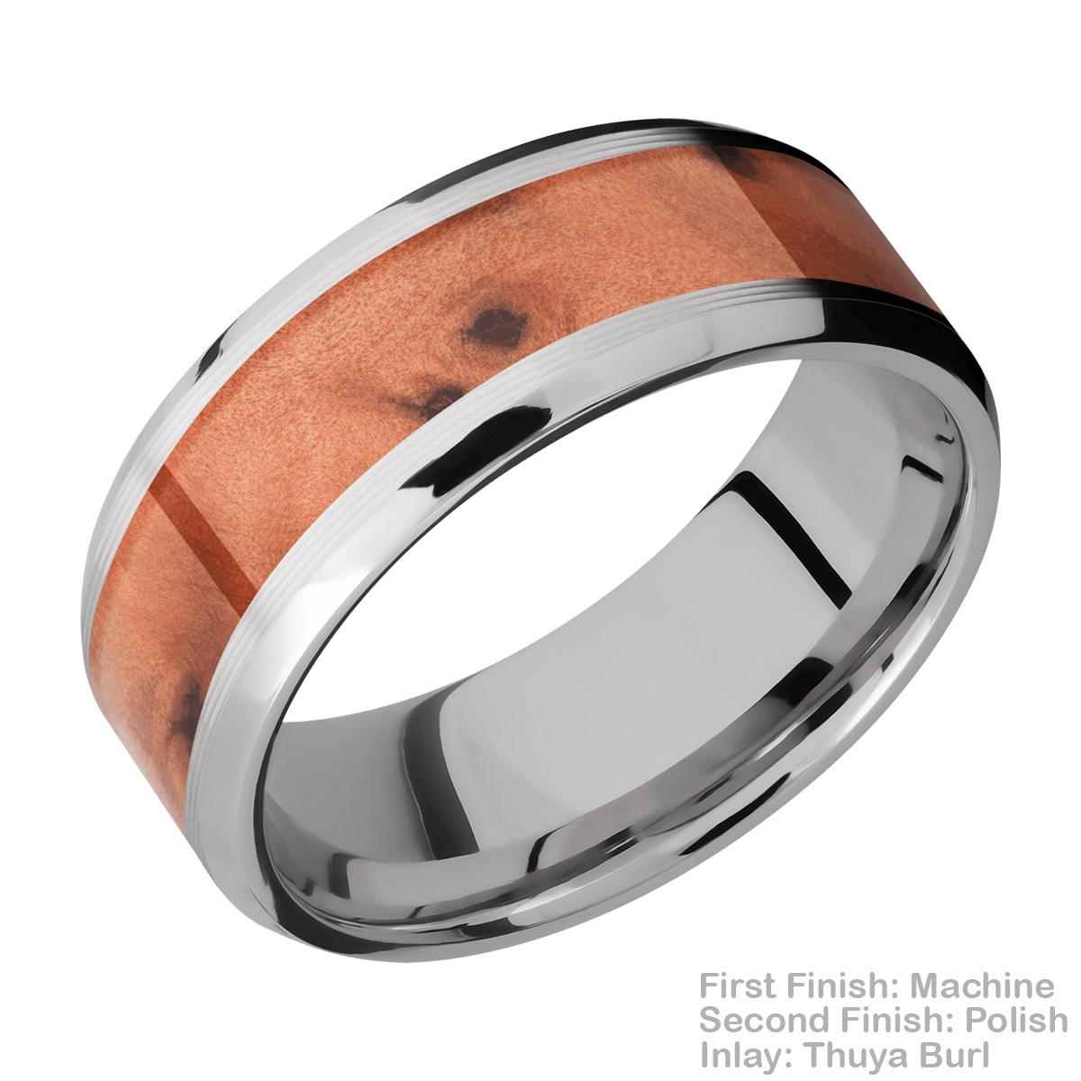 Lashbrook CC8B15(NS)/HARDWOOD Cobalt Chrome Wedding Ring or Band Alternative View 8