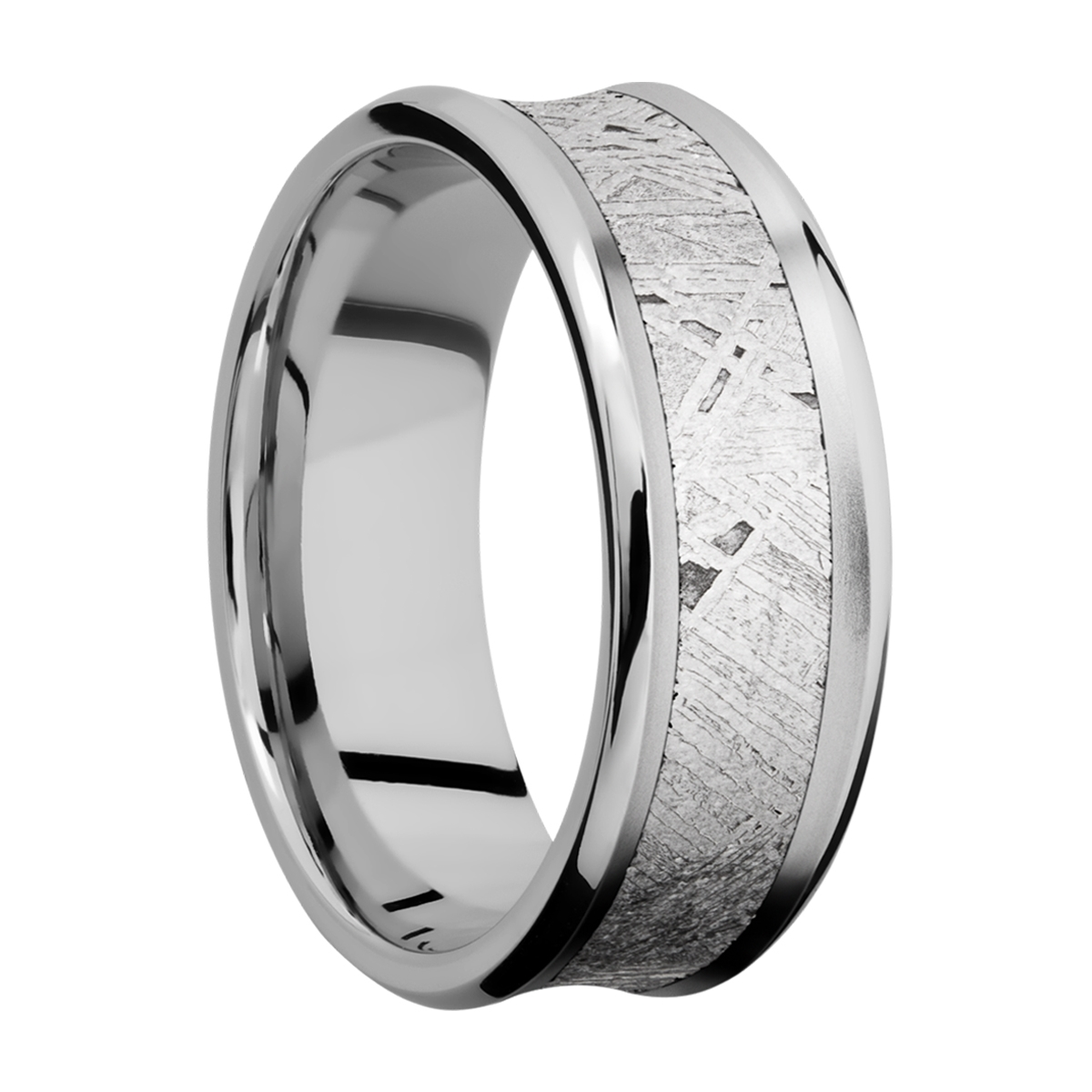 Lashbrook CC8CB15/METEORITE Cobalt Chrome Wedding Ring or Band Alternative View 1