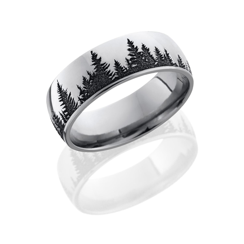 Lashbrook CC8D-LCVPINES POLISH Cobalt Chrome Wedding Ring