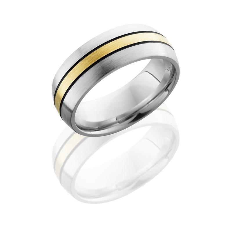 Lashbrook CC8D12 14KYMGA Satin Cobalt Chrome Wedding Ring Or Band