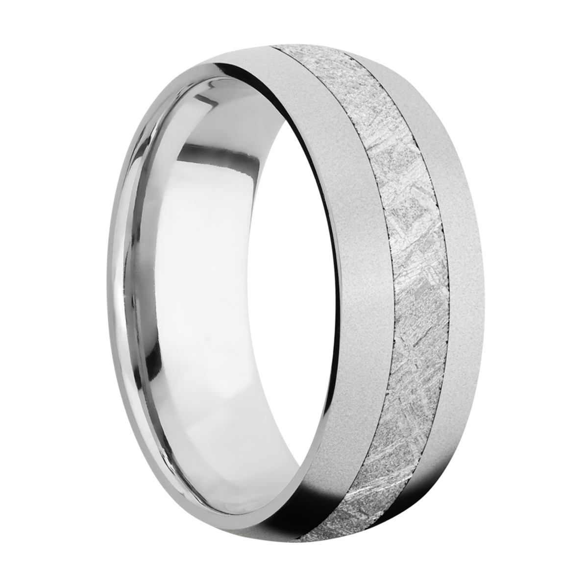 Lashbrook CC8D13/METEORITE Cobalt Chrome Wedding Ring or Band Alternative View 1