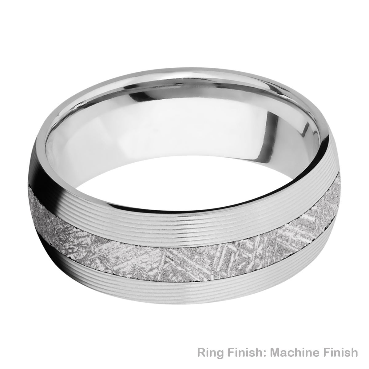 Lashbrook CC8D13/METEORITE Cobalt Chrome Wedding Ring or Band Alternative View 9