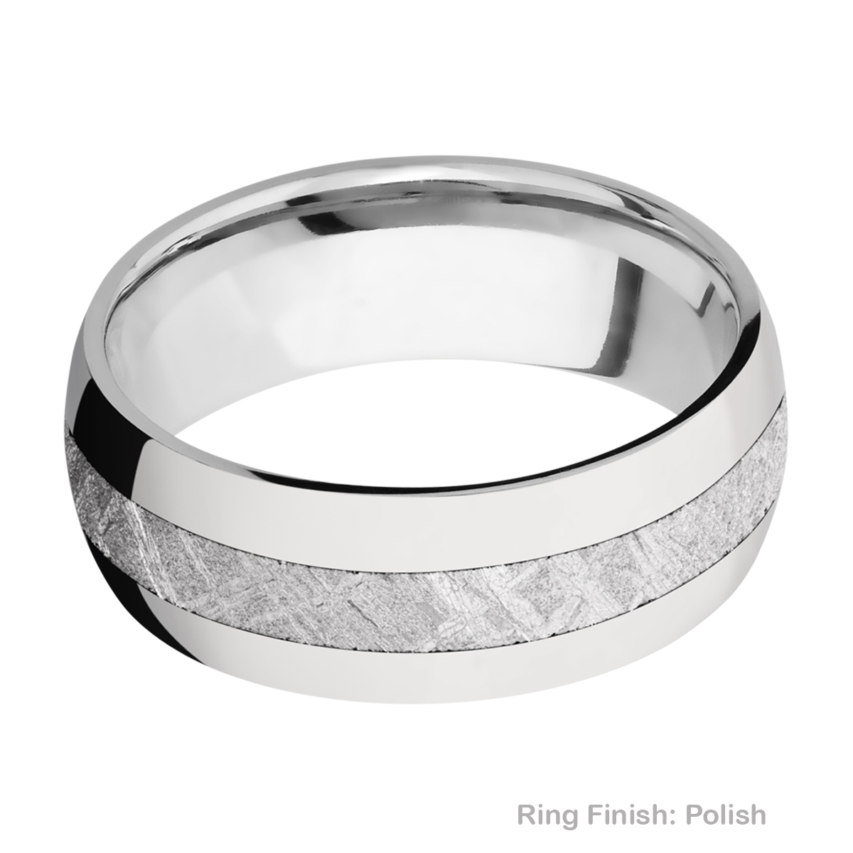 Lashbrook CC8D13/METEORITE Cobalt Chrome Wedding Ring or Band Alternative View 3