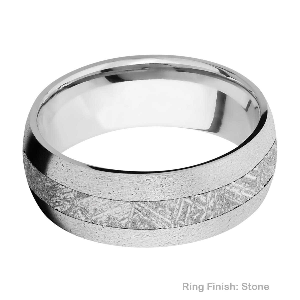 Lashbrook CC8D13/METEORITE Cobalt Chrome Wedding Ring or Band Alternative View 6