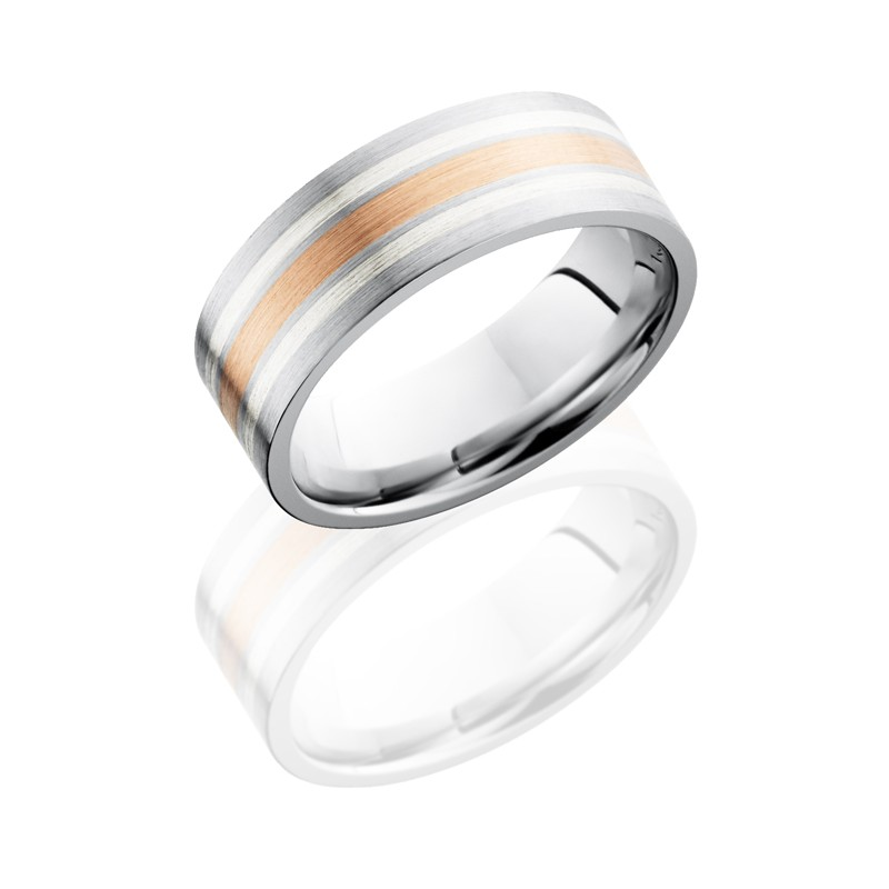 Lashbrook CC8F1221 14KRSS Satin Cobalt Chrome Wedding Ring Or Band
