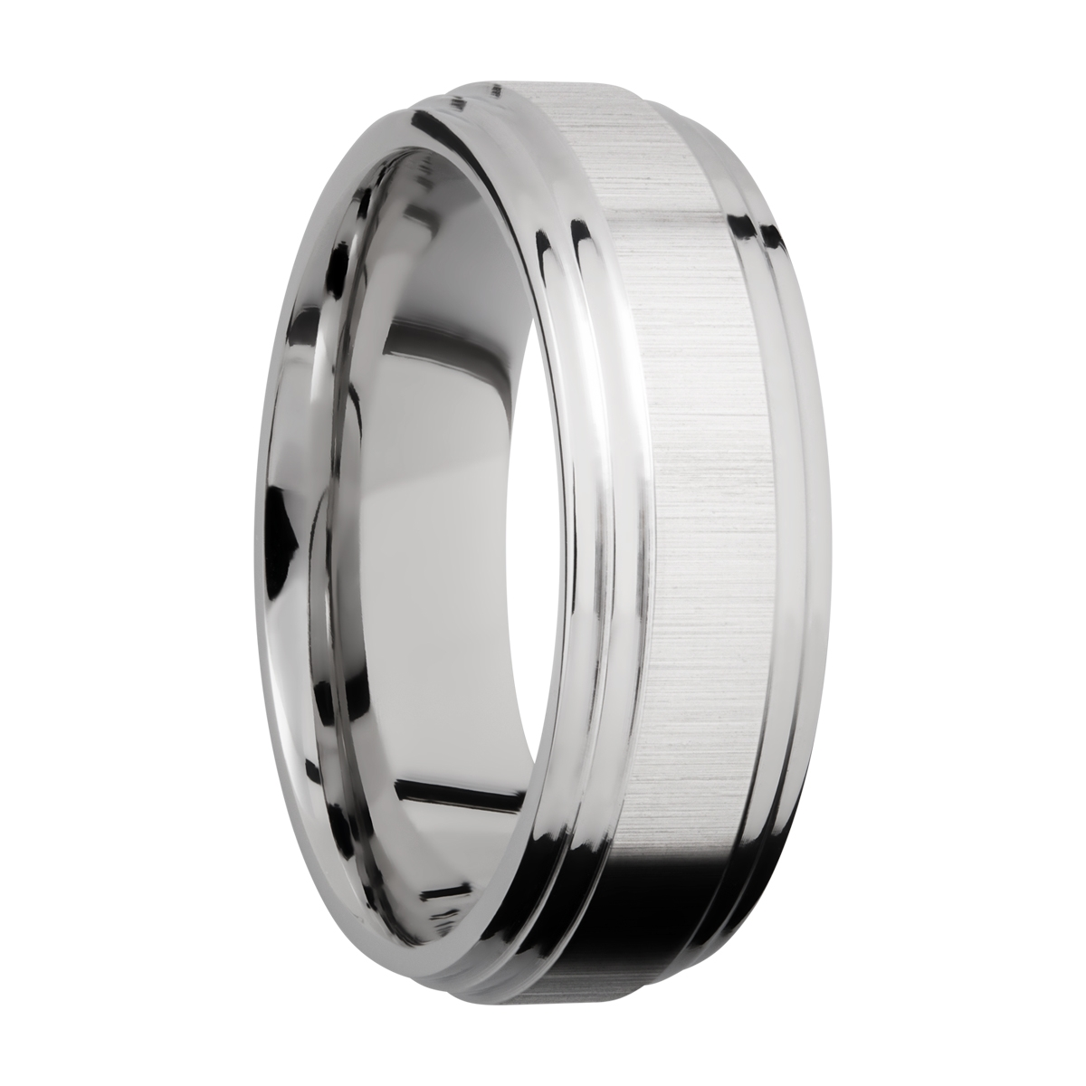 Lashbrook CC8F2S Cobalt Chrome Wedding Ring or Band Alternative View 1