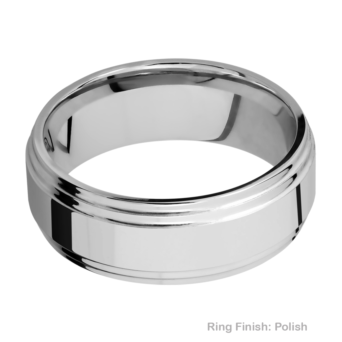 Lashbrook CC8F2S Cobalt Chrome Wedding Ring or Band Alternative View 4