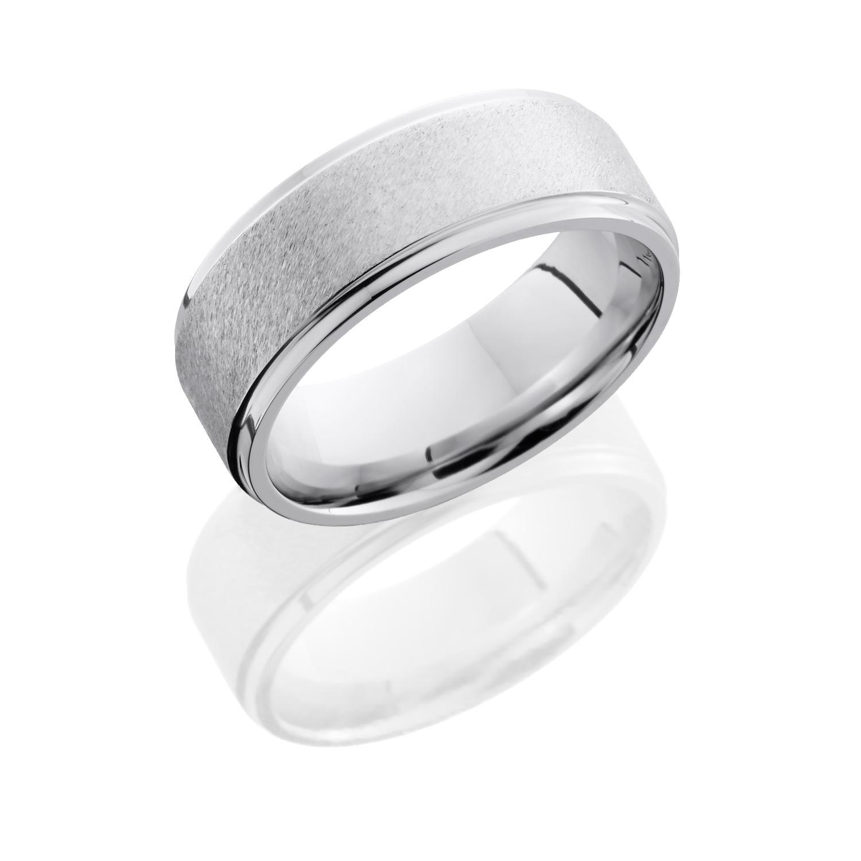 Lashbrook CC8FGE ANGLE STONE POLISH Cobalt Chrome Wedding Ring Or Band