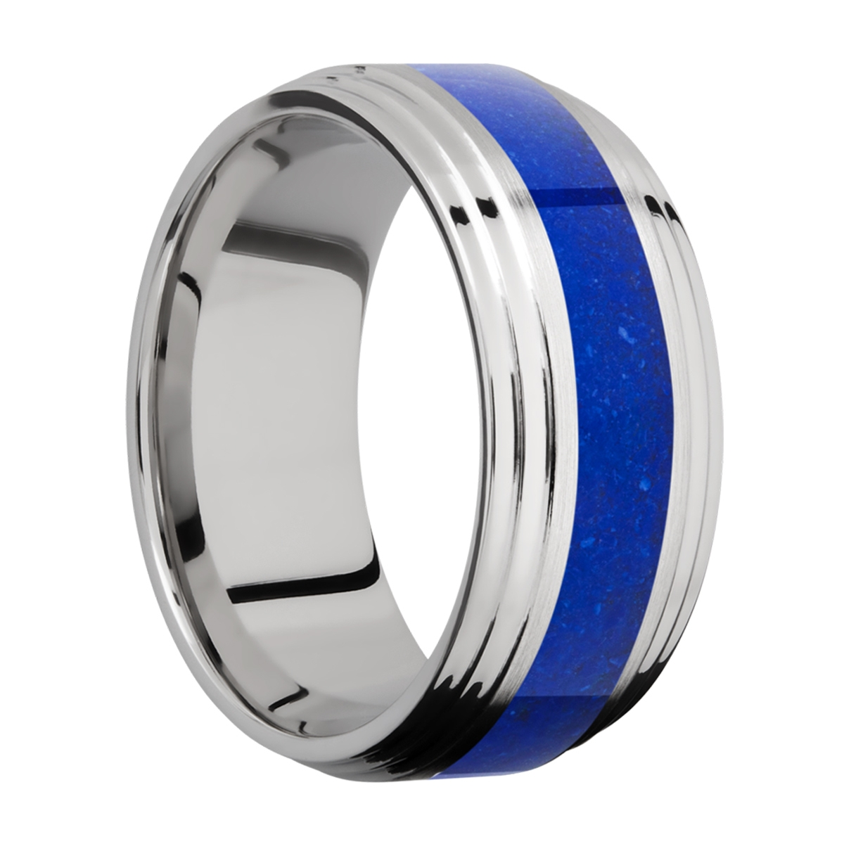 Lashbrook CC9F2S14/MOSAIC Cobalt Chrome Wedding Ring or Band Alternative View 1