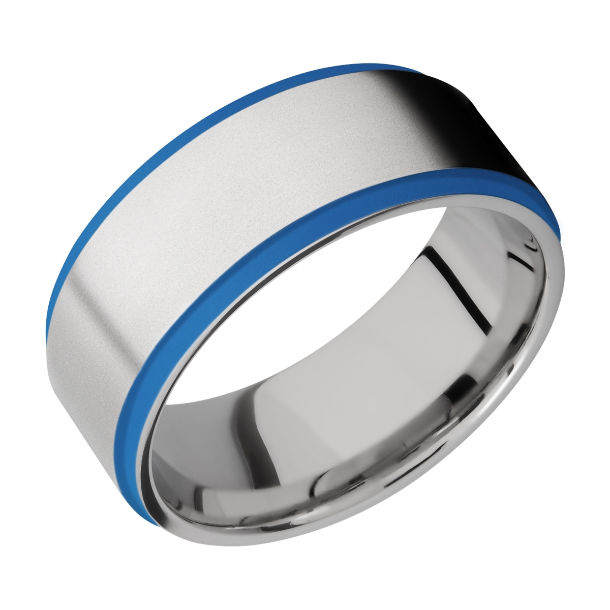 Lashbrook CC10FGE21EDGE/A/CERAKOTE Cobalt Chrome Wedding Ring or Band Alternative View 1