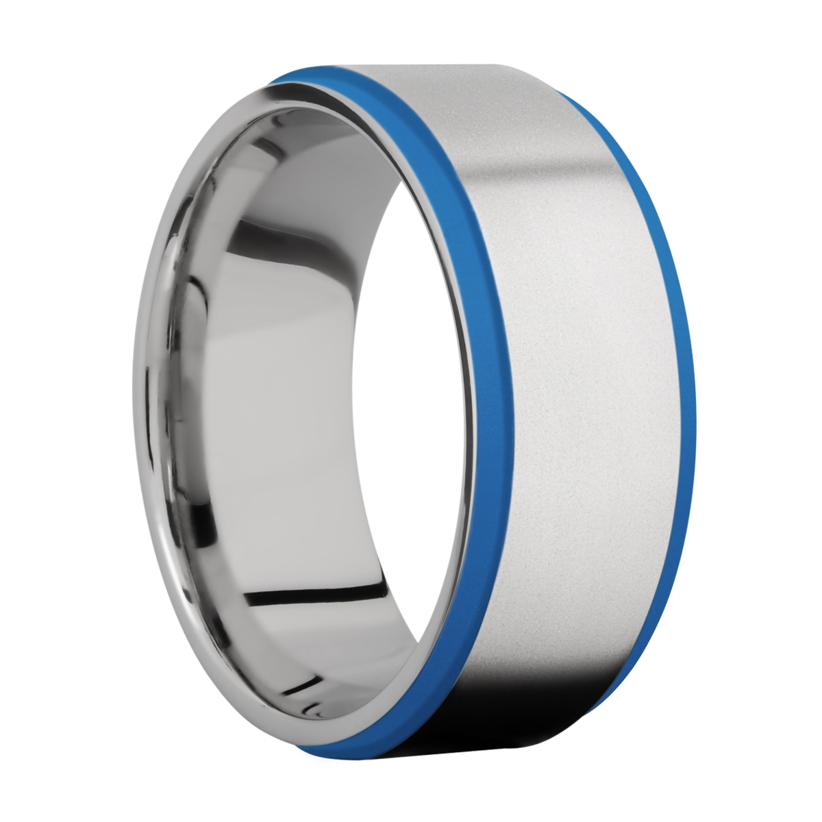 Lashbrook CC10FGE21EDGE/A/CERAKOTE Cobalt Chrome Wedding Ring or Band Alternative View 2