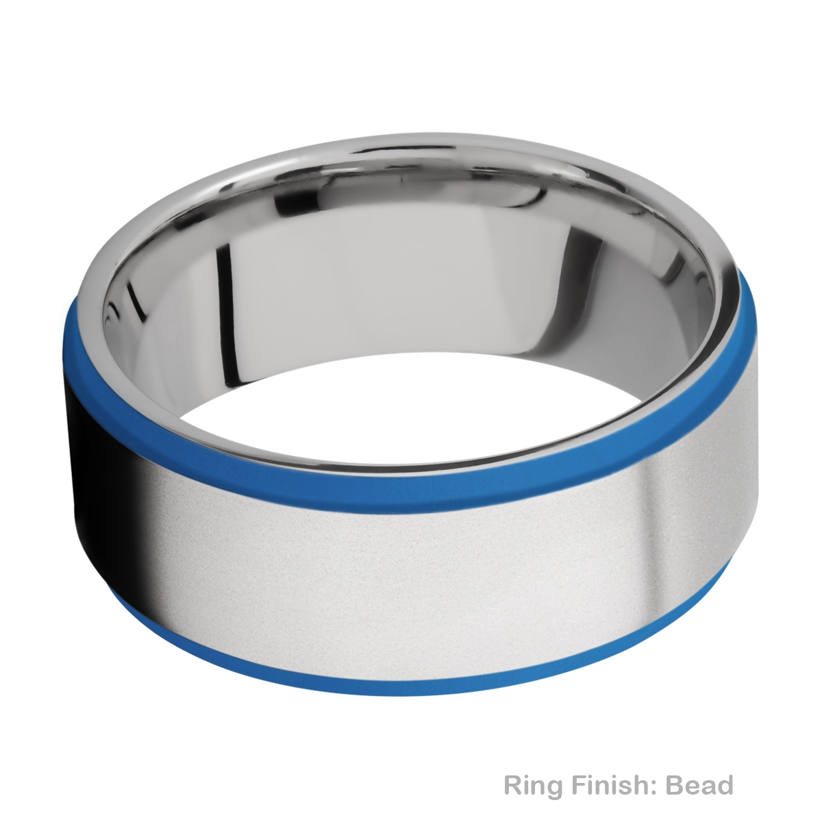 Lashbrook CC10FGE21EDGE/A/CERAKOTE Cobalt Chrome Wedding Ring or Band Alternative View 3