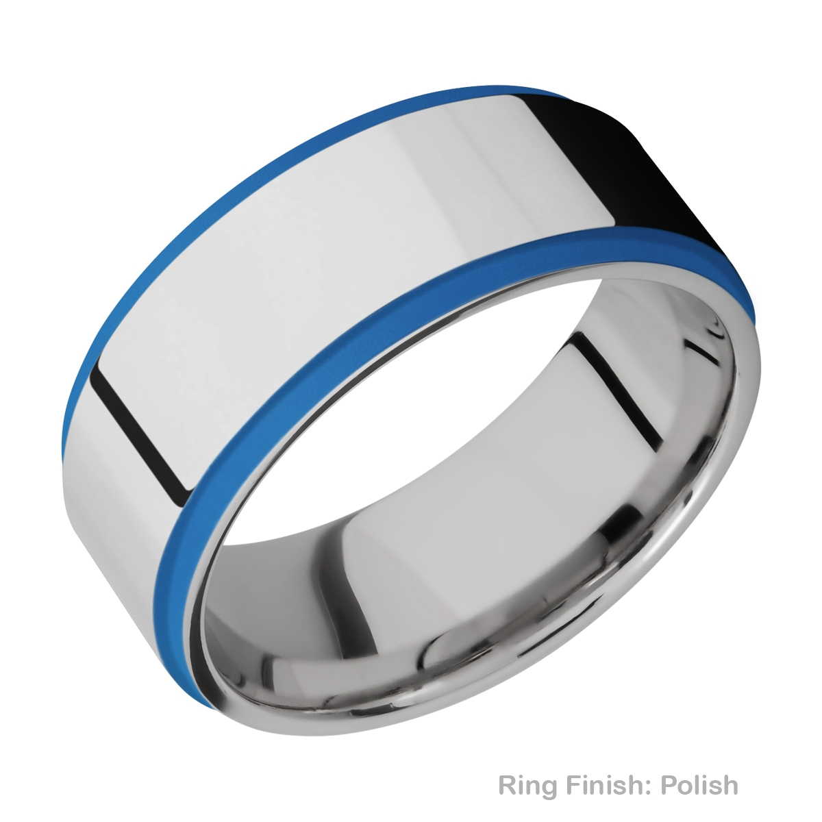 Lashbrook CC10FGE21EDGE/A/CERAKOTE Cobalt Chrome Wedding Ring or Band Alternative View 4