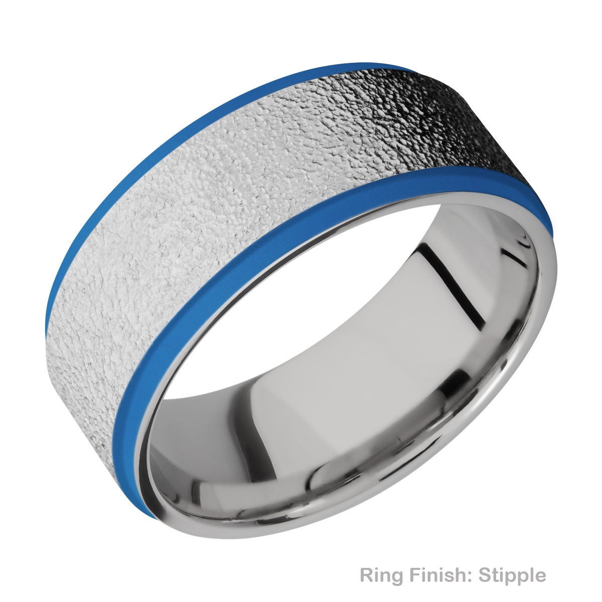 Lashbrook CC10FGE21EDGE/A/CERAKOTE Cobalt Chrome Wedding Ring or Band Alternative View 15