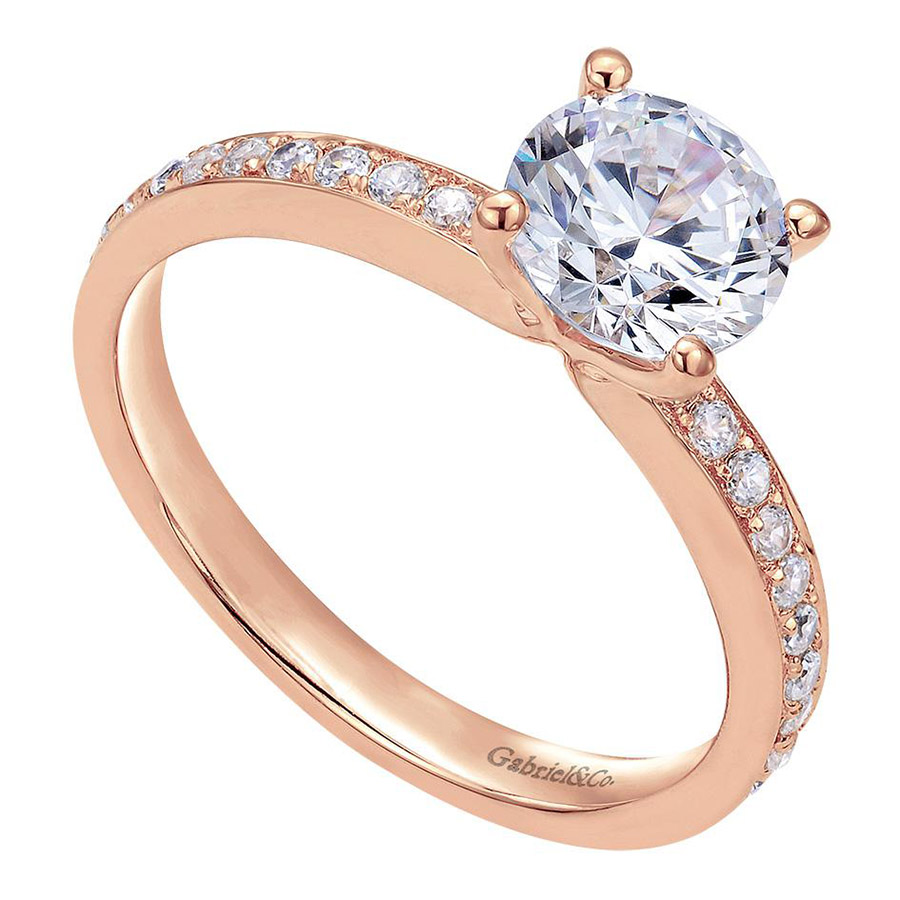 Gabriel 14 Karat Contemporary Engagement Ring ER7537K44JJ Alternative View 2