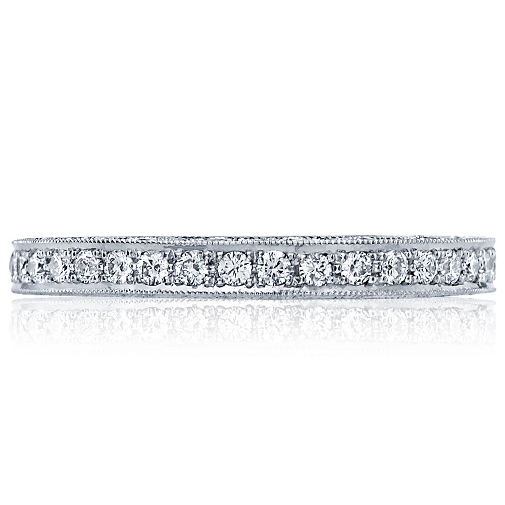 HT2516B Platinum Tacori Blooming Beauties Diamond Wedding Ring