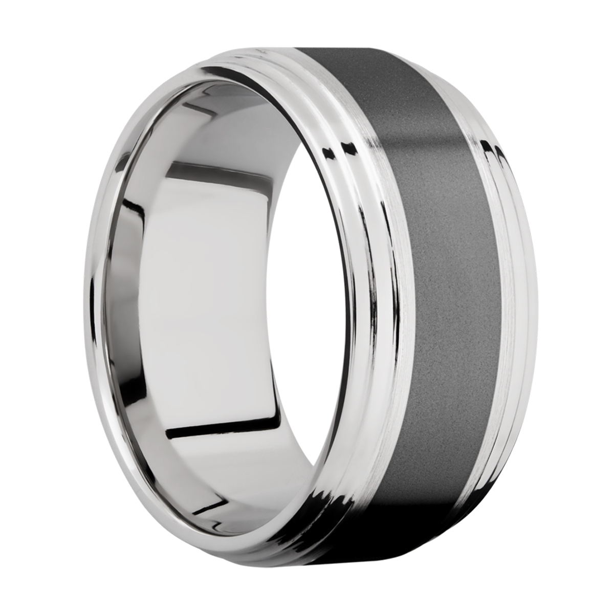Lashbrook CCPF10F2S15/ZIRCONIUM Cobalt Chrome Wedding Ring or Band Alternative View 1