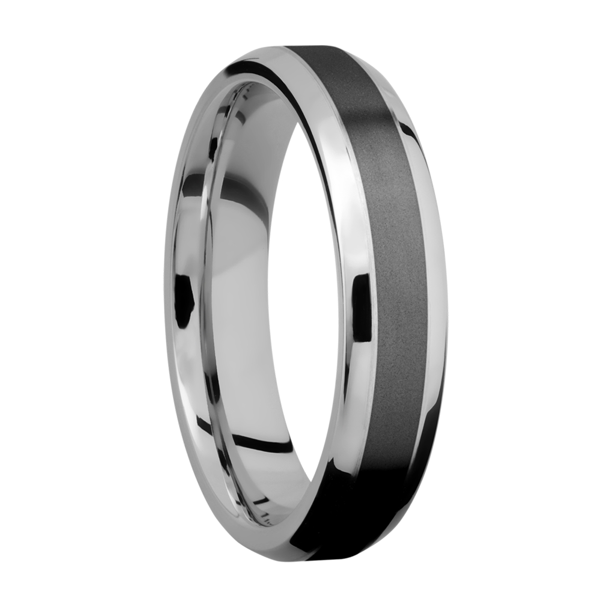 Lashbrook CCPF5B13(NS)/ZIRCONIUM Cobalt Chrome Wedding Ring or Band Alternative View 1
