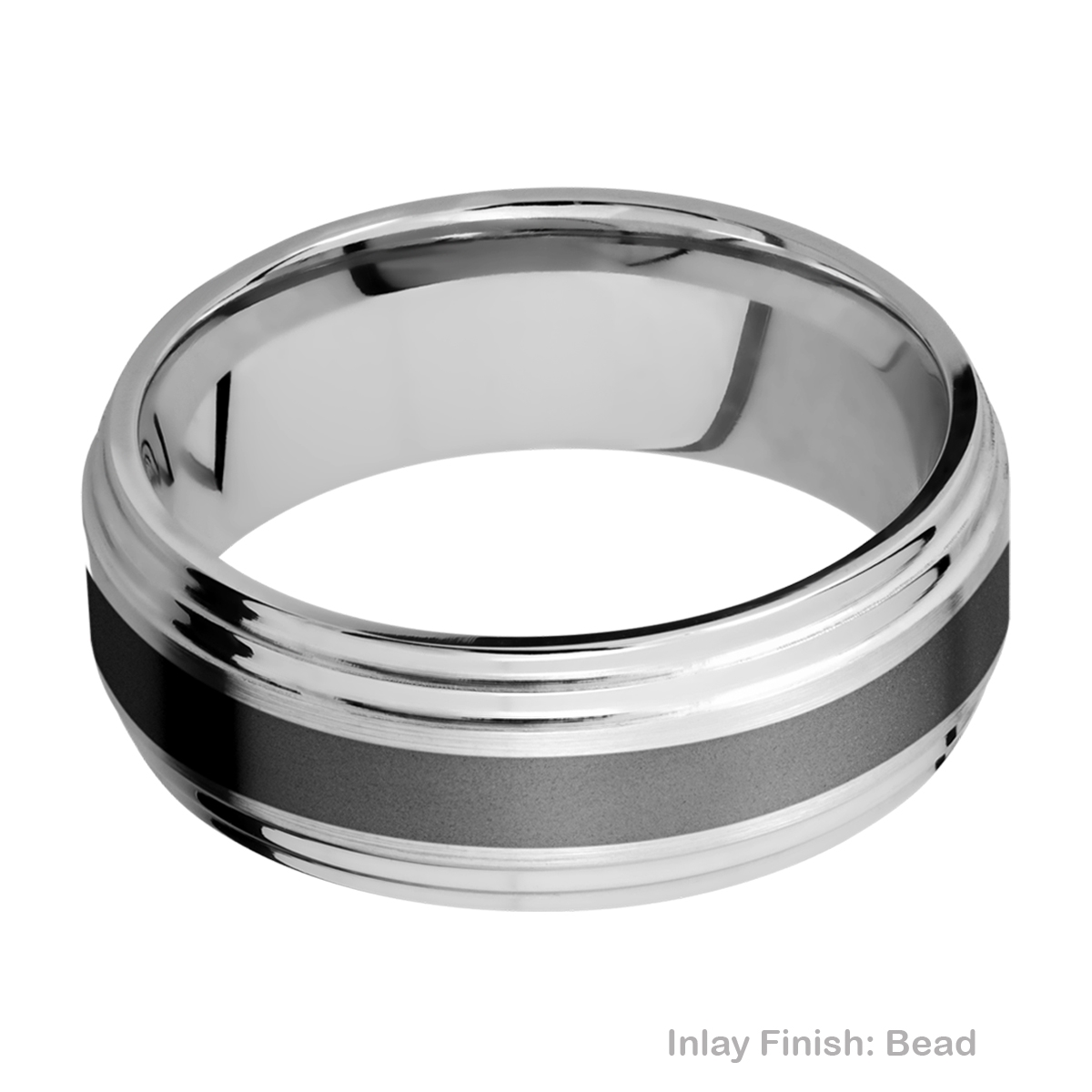 Lashbrook CCPF3F2S13/ZIRCONIUM Cobalt Chrome Wedding Ring or Band Alternative View 2