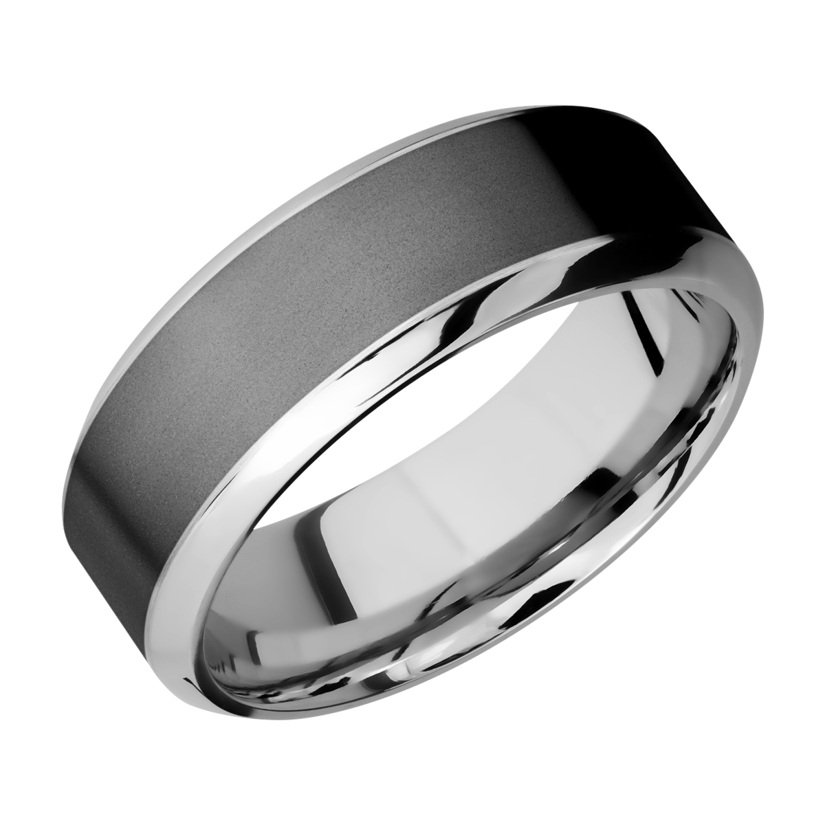 Lashbrook CCPF8HB15/ZIRCONIUM Cobalt Chrome Wedding Ring or Band