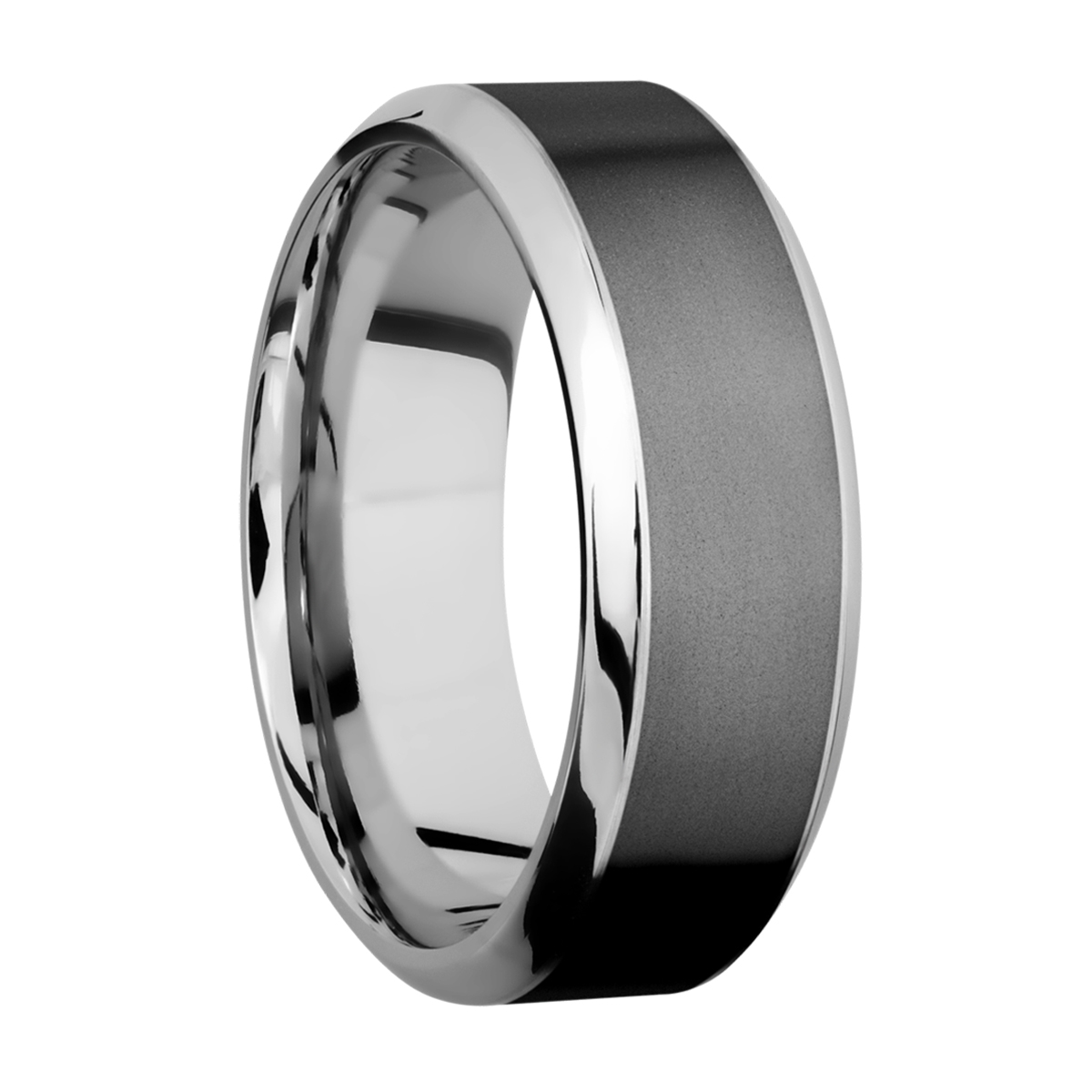 Lashbrook CCPF8HB15/ZIRCONIUM Cobalt Chrome Wedding Ring or Band Alternative View 1