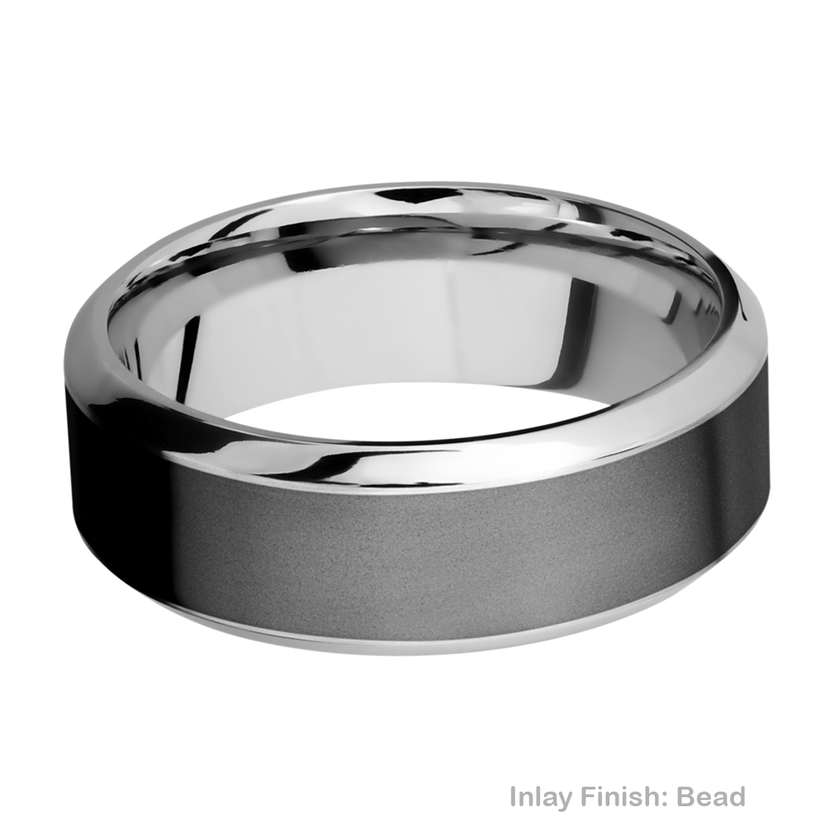Lashbrook CCPF8HB15/ZIRCONIUM Cobalt Chrome Wedding Ring or Band Alternative View 2