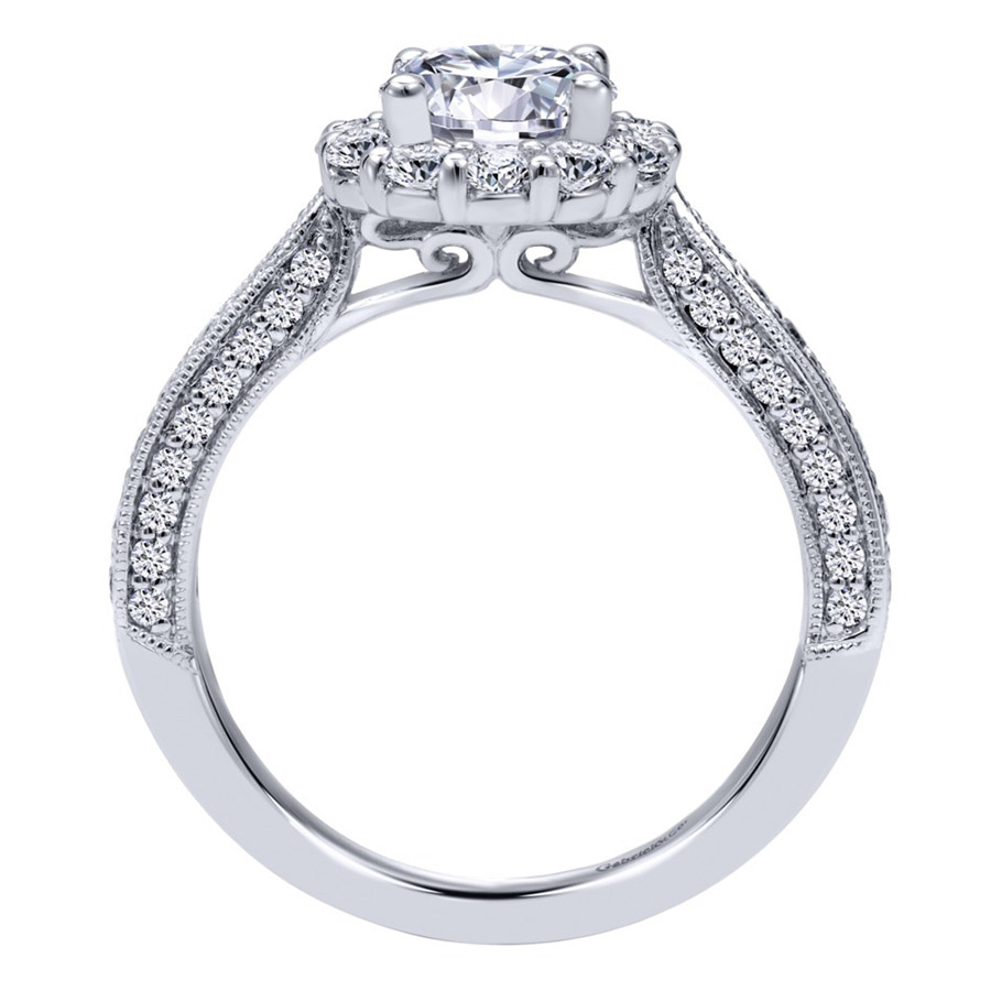Gabriel 14 Karat Victorian Engagement Ring Er10104w44jj Alternative  View 1