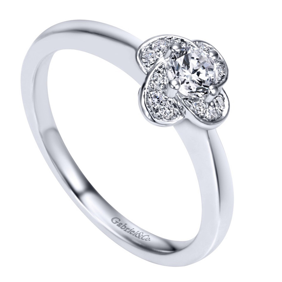 Gabriel 14 Karat Contemporary Engagement Ring ER97764W44JJ Alternative View 2
