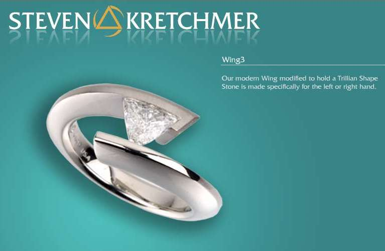 Kretchmer Platinum Wing 3 Tension Set Ring Alternative View 3