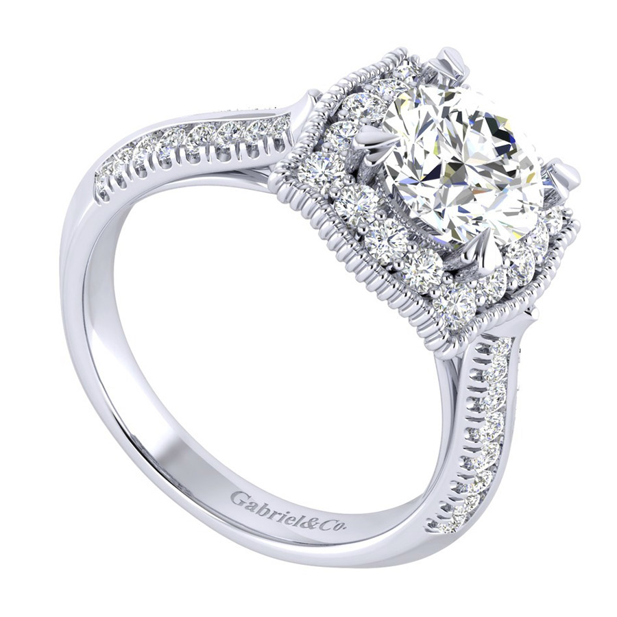 Gabriel 14 Karat Perfect Match Engagement Ring ER002C6AAW44JJ Alternative View 2