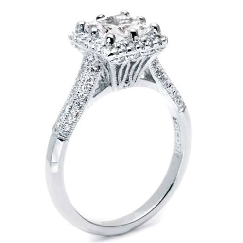 Tacori Platinum Solitaire Engagement Ring 2502PRP7 Alternative View 1