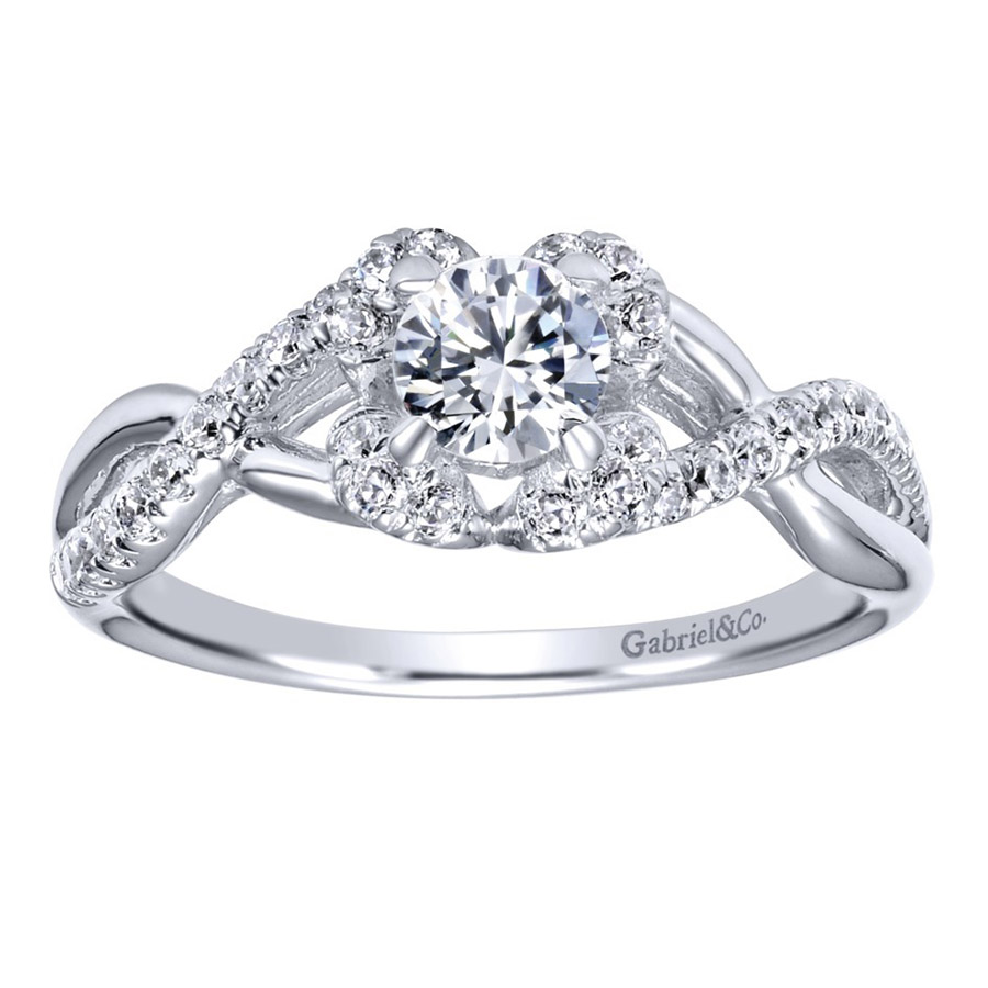 Gabriel 14 Karat Contemporary Engagement Ring ER910155W44JJ Alternative View 4