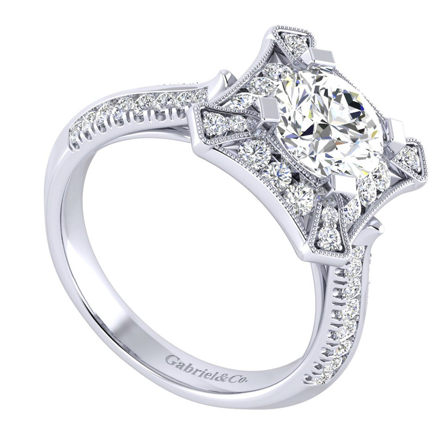 Gabriel 14 Karat Perfect Match Engagement Ring ER002C6AEW44JJ Alternative View 2