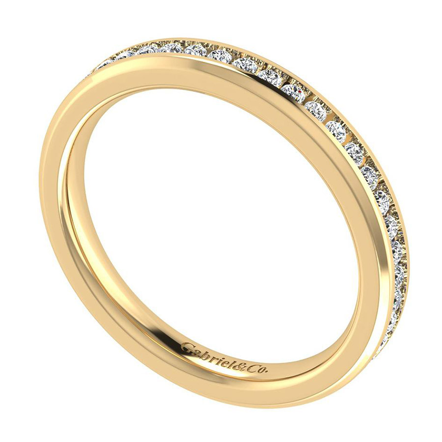 Gabriel 14 Karat Contemporary Wedding Band WB8195Y44JJ Alternative View 2