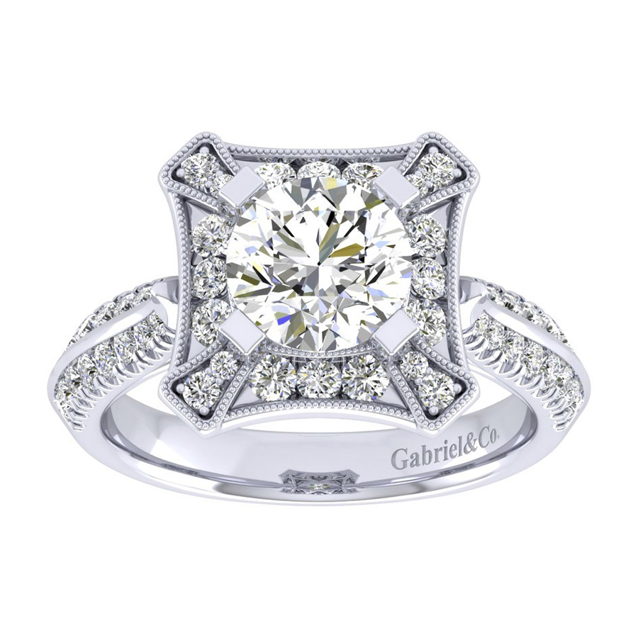 Gabriel 14 Karat Perfect Match Engagement Ring ER002C6AEW44JJ Alternative View 4