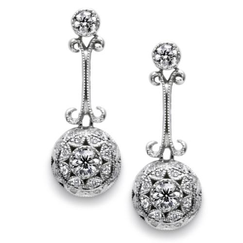 tacori diamond earrings platinum fine jewelry fe554 tq