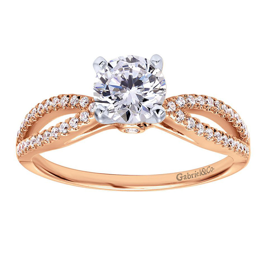 Gabriel 14 Karat Contemporary Engagement Ring ER8129T44JJ Alternative View 4
