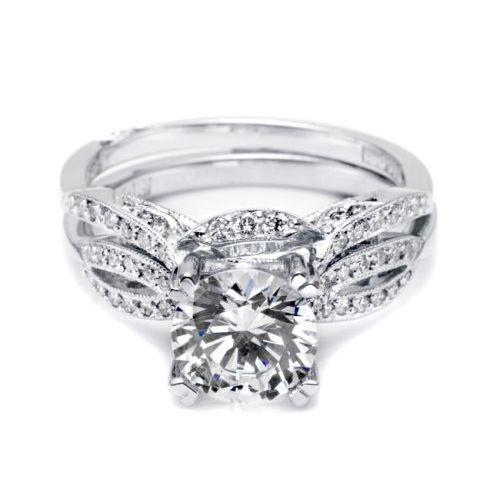 Diamond Tacori Bands: Tacori 2573MDB 18 Karat Ribbon Diamond Wedding Band