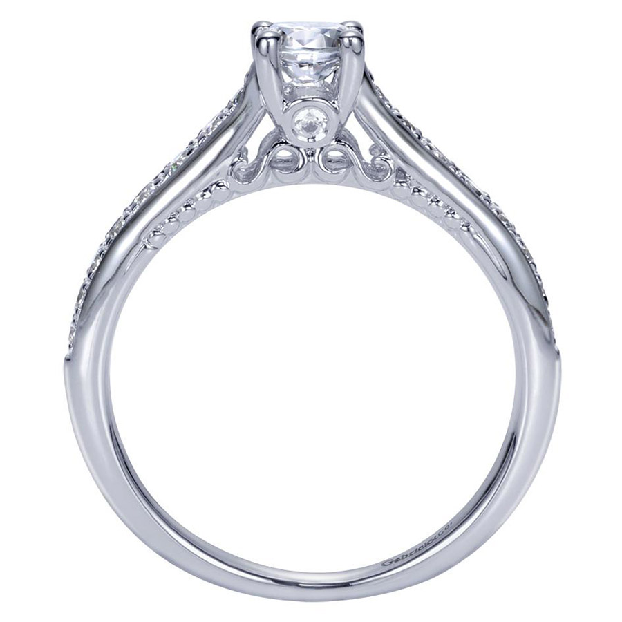 Gabriel 14 Karat Contemporary Engagement Ring ER98553W44JJ Alternative View 1