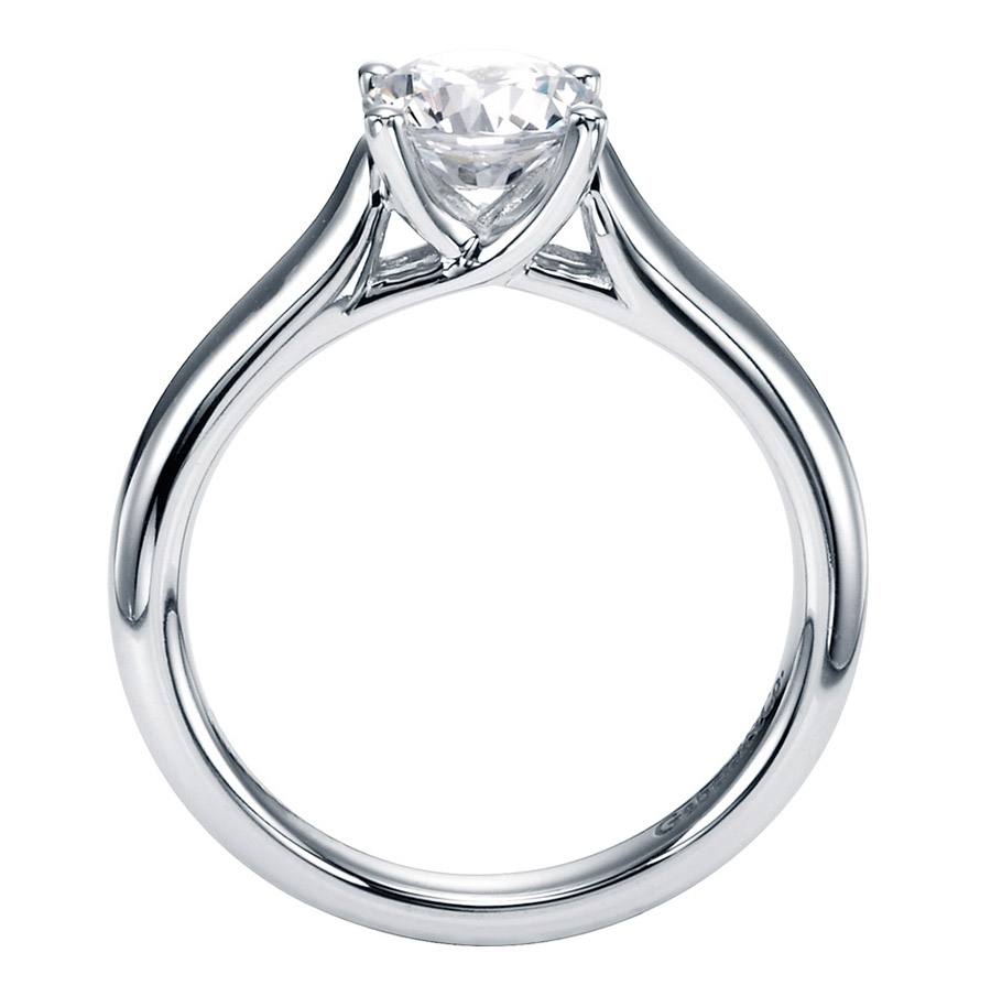 Gabriel Platinum Contemporary Engagement Ring ER6601PTJJJ Alternative View 1