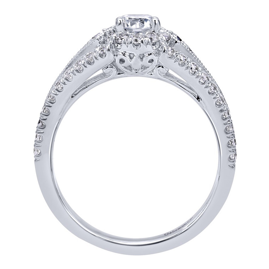 Gabriel 14 Karat Contemporary Engagement Ring ER910140W44JJ Alternative View 1