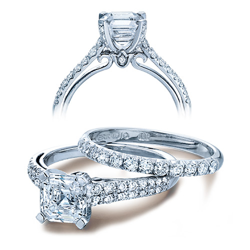 Verragio Platinum Couture Engagement Ring Couture-0382 P