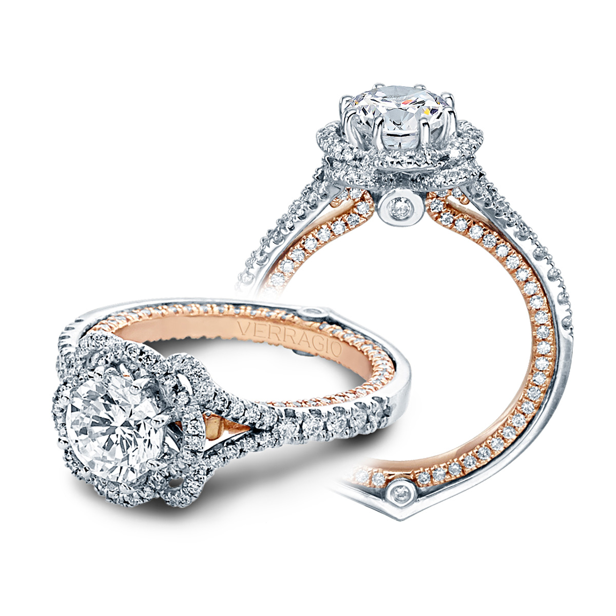 Verragio Couture-0426DR-TT Platinum Engagement Ring