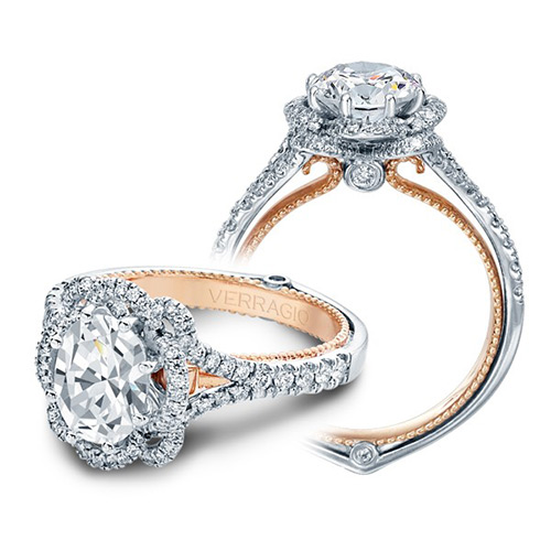 Verragio Couture-0426OV-TT 14 Karat Engagement Ring Alternative View 2