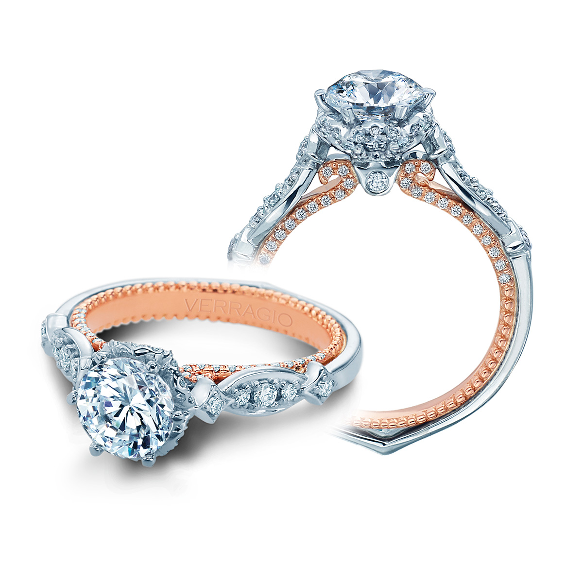 verragio couture 0443r 2wr 18 karat engagement ring tq