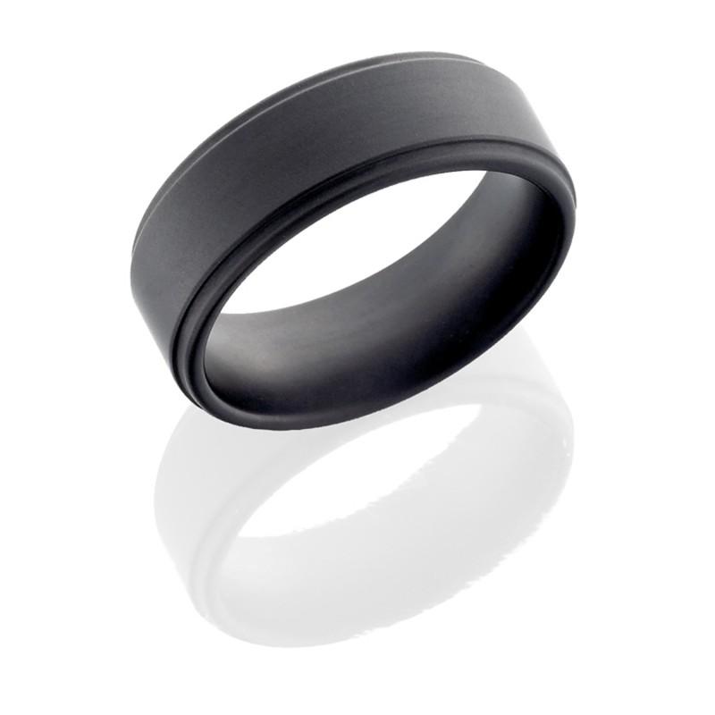 Lashbrook CR8FGE MILITARY SANDBLAST Ceramic Wedding Ring or Band