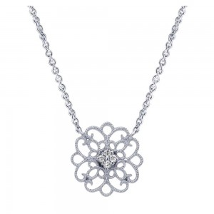 Gabriel Fashion Silver Victorian Necklace NK4333SVJWS