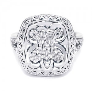 Tacori Diamond Ring Platinum Fine Jewelry FR808M